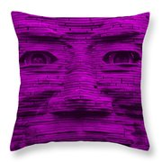 In Your Face In Purple Throw Pillow