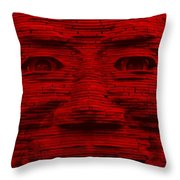 In Your Face In Red Throw Pillow
