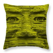 In Your Face In Yellow Throw Pillow