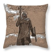 Inca Warrior Throw Pillow