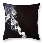 Incense Smoke Rising, New Zealand Throw Pillow