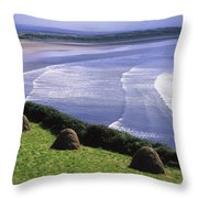 Inch Beach, Co Kerry, Ireland Throw Pillow