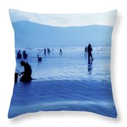 Inch Beach, Dingle Peninsula, County Throw Pillow