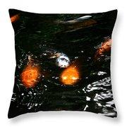 Incoming Koi Missiles Throw Pillow