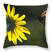 Incoming Monarch Throw Pillow