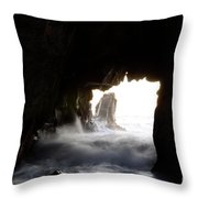 Incoming Tide Big Sur Throw Pillow