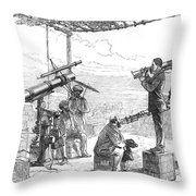 India Eclipse Expedition, 1872 Throw Pillow by Science Source