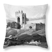 India: Fatehpur Sikri, C1860 Throw Pillow