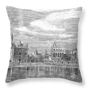 India: Golden Temple, 1858 Throw Pillow