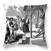 India: New Years Day, 1859 Throw Pillow
