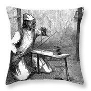 India: Pearl Borer, 1876 Throw Pillow