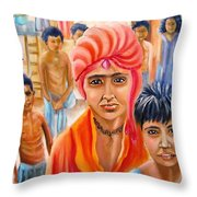 India Rising -- Prince Of Thieves Throw Pillow