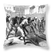 India: Street Sweepers Throw Pillow