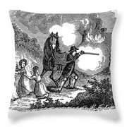Indian Attack, 1697 Throw Pillow