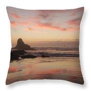 Indian Beach Throw Pillow