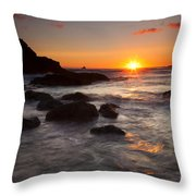 Indian Beach Sundown Throw Pillow