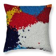 Indian Beads Throw Pillow