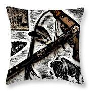 Indian Buffalo Jawbone Tomahawk Throw Pillow