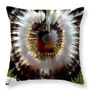 Indian Bustle Throw Pillow