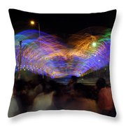 Indian Carnival Colorful Swing Throw Pillow