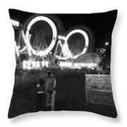 Indian Carnival Ferris Wheel And A Family Throw Pillow