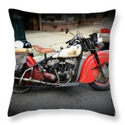 Indian Chief Motorcycle Rare Throw Pillow