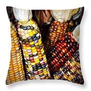 Indian Corn 2 Throw Pillow