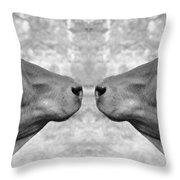 Indian Cows Throw Pillow