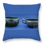 Indian Cups Throw Pillow