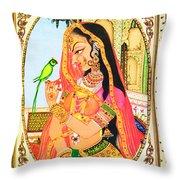 Indian Empress Throw Pillow