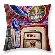 Indian Gasoline Throw Pillow