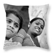 Indian Girls Throw Pillow