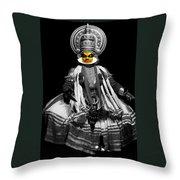 Indian Kathakali Dance Throw Pillow