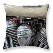 Indian Motorcycle Engine Throw Pillow