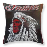 Indian Motorcycles Throw Pillow