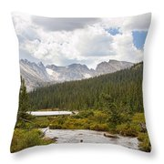 Indian Peaks Summer Day Throw Pillow