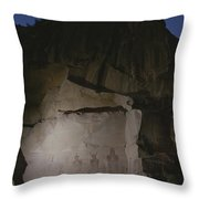 Indian Pictographs Are Illuminated Throw Pillow