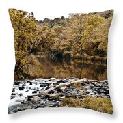 Indian Summer At Brandywine Creek Throw Pillow
