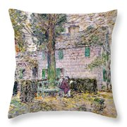 Indian Summer In Colonial Days Throw Pillow by Childe Hassam