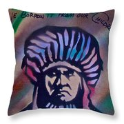 Indigenous Motto Earth Tones Throw Pillow