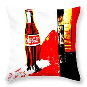 Indonesian Coke Ad Throw Pillow by Funkpix Photo Hunter