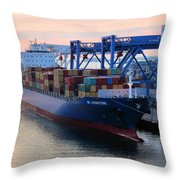 Industrial Boston Throw Pillow