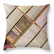 Industrial Hot Houses On Tonde Bay Throw Pillow