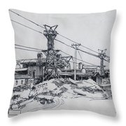 Industrial Site Throw Pillow