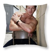 Industrial Strength Palm Springs Throw Pillow