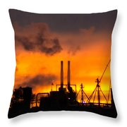 Industrial Strength Sunset Throw Pillow