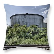 Industrial Tank Throw Pillow