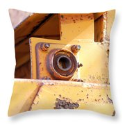 Industrial Yellow Throw Pillow