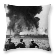 Industry: Oil Fire, C1902 Throw Pillow