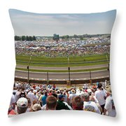 Indy 500  Race Day Throw Pillow